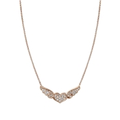 Nomination Angel Winged Heart Rose Gold Necklace