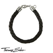 Thomas Sabo Brown Woven Leather Bracelet