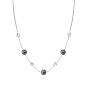 Nomination Bella Moonlight Grey Pearl and Crystal Necklace