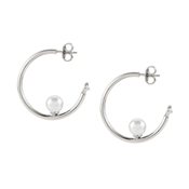 Nomination Bella Moonlight Pearl Hoop Earrings