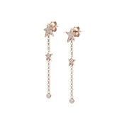 Nomination Stella Rose Gold Drop Star Earrings
