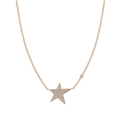 Nomination Stella Rose Gold Crystal Star Necklace