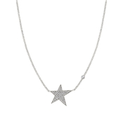Nomination Stella Silver Crystal Star Necklace