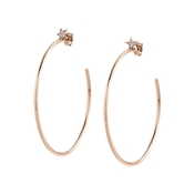 Nomination Stella Rose Gold Large Hoop Earrings