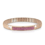 Nomination Swarovski Fuschia Pink & Rose Gold Bracelet