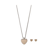 Pilgrim Rose Gold Crystal Heart Gift Set