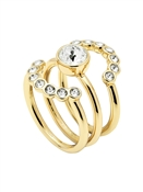 Ted Baker Gold Cadyna Concentric Crystal Rings