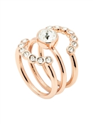Ted Baker Rose Gold Cadyna Concentric Crystal Ring