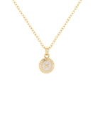 Ted Baker Elvina Enamel Mini Button Gold Necklace