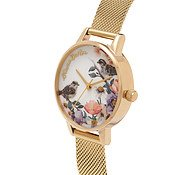 Olivia Burton English Garden Gold Mesh Watch