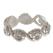 Olivia Burton Silver Floral Charm Ring