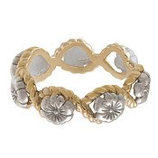 Olivia Burton Silver & Gold Floral Charm Ring