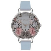 Olivia Burton Enchanted Garden Chalk Blue & Silver Watch