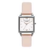 Olivia Burton Dusty Pink & Silver Square Dial Watch