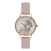Olivia Burton Woodland Vegan Rose Sand & Rose Gold Watch
