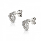 Nomination Flair Sparkling Love Knot Earrings
