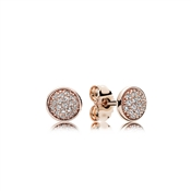 PANDORA Dazzling Droplets Rose Stud Earrings