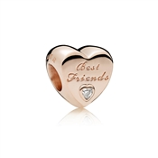 PANDORA Rose Friendship Heart Charm