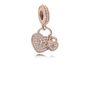 PANDORA Rose Love Locks Pendant Charm