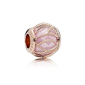 PANDORA Rose Pink Intertwining Radiance Charm