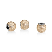 PANDORA Rose Golden Glitter Ball Charm