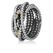 Pandora Diamond Wound Rope Ring