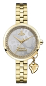 Vivienne Westwood Bow II Gold Heart Dial Watch