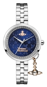 Vivienne Westwood Bow II Silver & Midnight Blue Watch