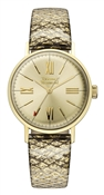 Vivienne Westwood Burlington Gold Snakeskin Watch
