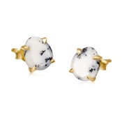 Missoma Dendritic Chalcedony Slice Stud Earrings