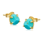 Missoma Gold Turquoise Nugget Stud Earrings