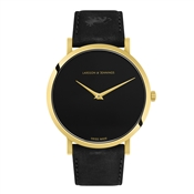 Larsson & Jennings  Lugano Jette 40mm Black & Gold Watch