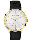 Larsson & Jennings  LUGANO 38MM GUILLOCHE DIAL GOLD/WHITE