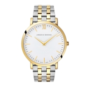 Larsson & Jennings  Lugano Vasa 40mm Silver & Gold Watch