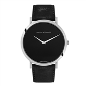 Larsson & Jennings  Lugano Jette 40mm Black & Silver Watch