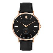 Larsson & Jennings  Lugano Jura 38mm Black Dial & Rose Gold Watch