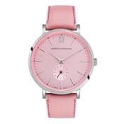 Larsson & Jennings  Lugano Jura 38mm Pink & Silver Watch