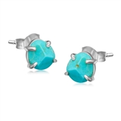 Missoma Silver Turquoise Nugget Stud Earrings
