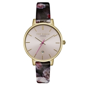 Ted Baker Kate Gold Chelsea Print Burgandy Watch
