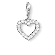 Thomas Sabo Open Heart Crystal Charm