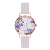 Olivia Burton Marble Floral Blush & Rose Gold Watch