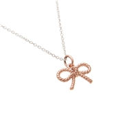 Olivia Burton Vintage Bow Silver & Rose Gold Necklace