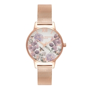 Olivia Burton Enchanted Garden Bee Blooms Rose Gold Watch