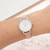 Olivia Burton Midi White Dial Dusty Pink Watch