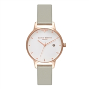 Olivia Burton Queen Bee Grey & Rose Gold Watch