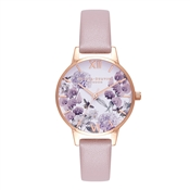 Olivia Burton Vegan Friendly Enchanted Garden Rose Sand Watch