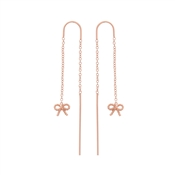 Olivia Burton Vintage Bow Rose Gold Chain Drop Earrings