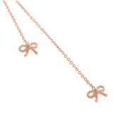 Olivia Burton Vintage Bow Rose Gold Lariat Necklace