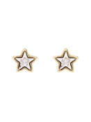 Ted Baker Cathylyn Crystal Star Gold Earrings
