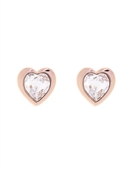 Ted Baker Rose Gold Crystal Heart Earrings
